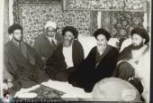 الامام الخميني بعد الافراج عنه من سجن نظام البهلوي البائد