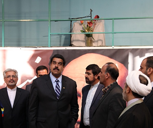 الرئيس الفنزويلي يزور بيت الامام الخميني في جماران