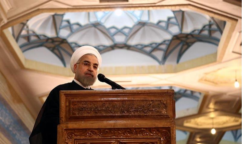 رئيس الجمهورية يلقي كلمة في مرقد الامام الخميني.