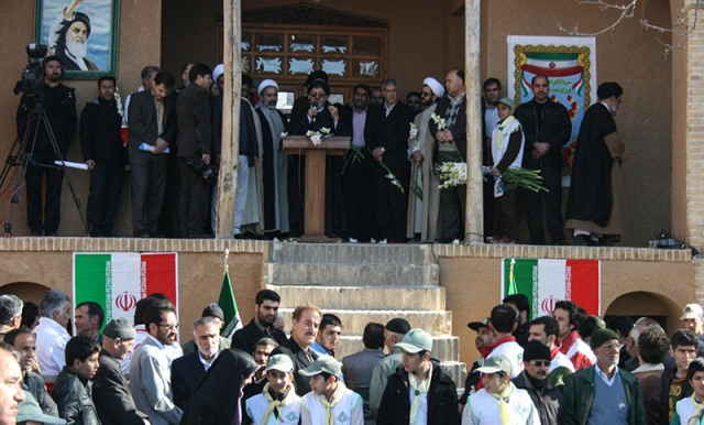 مراسم ذكرى انتصار الثورة الاسلامية في بيت الامام بخمين