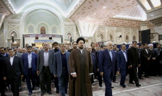 وزير الخارجية و سفراء ايران يجددون العهد مع الامام الخميني