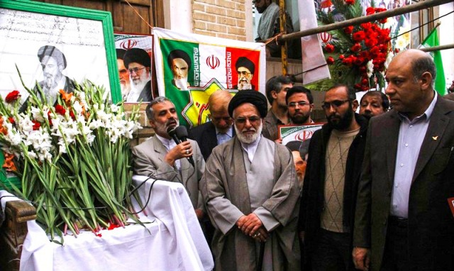 مراسم ذكرى انتصار الثورة الاسلامية في بيت الامام في قم