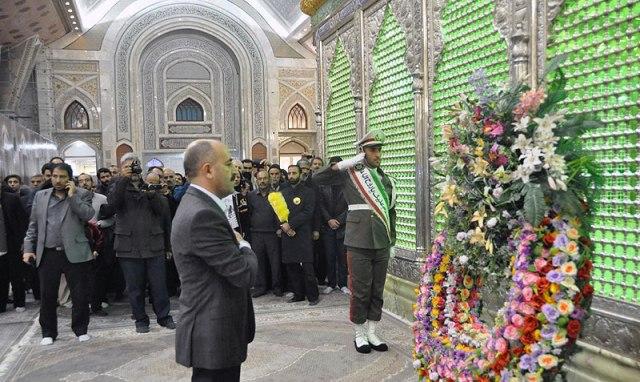 رئيس المكتبة الوطنية في تركيا يزور مرقد الامام الخميني قدس سره
