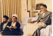 لقاء الشيخ هاشمي رفسنجاني مع الامام الخميني في جماران