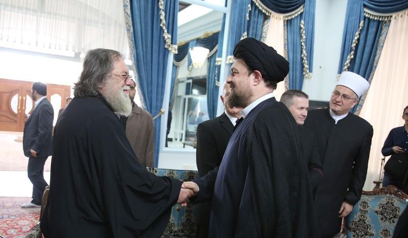 وفد القيادات الدينية في كرواتيا يلتقون سماحة السيد حسن الخميني