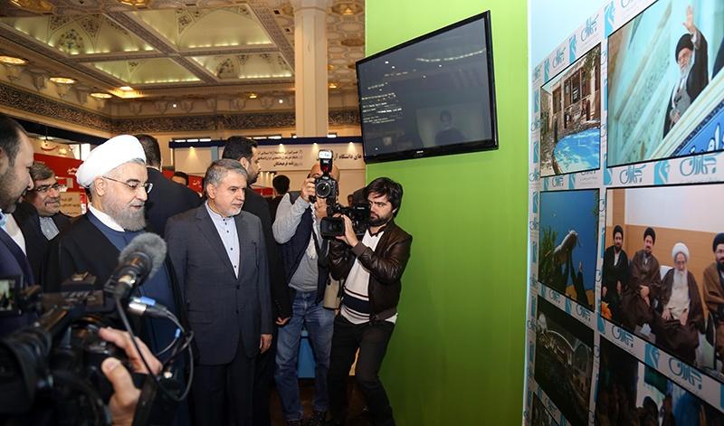 مشاركة مؤسسة تنظيم و نشر تراث الامام الخميني في معرض الصحافة(1)