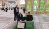 رئيس منظمة التفتيش في العراق يزور مرقد الامام الخميني