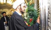 أمين عام حركة النجباء العراقية يزور مرقد الامام الخميني