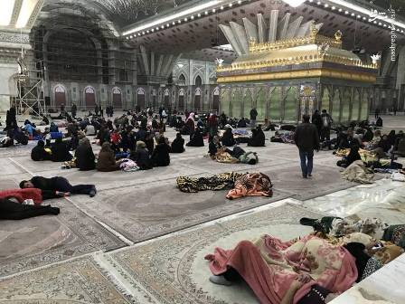 مرقد الامام مکان آمن للشعب