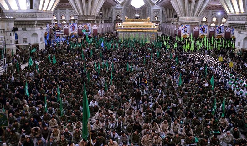 إقامة مراسم الذكرى السنوية لتأسيس قوات التعبئة الشعبية بمرقد الامام الخميني الراحل (رض)
