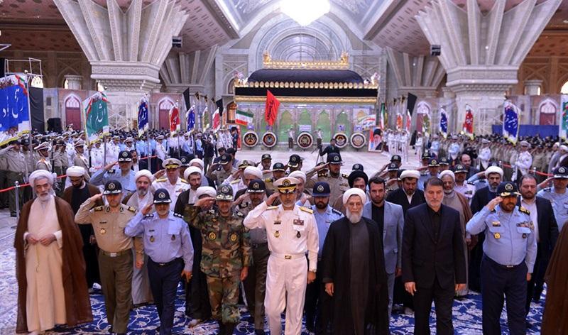 مسؤولي المنظمة العقائدية - السياسية للجيش يجددون الميثاق مع مبادئ الامام الخميني الراحل