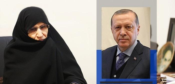 كريمة الإمام الخميني تبعث برسالة لاردوغان وتطالبه باتخاذ موقف حاسم وحملة دولية واسعة ضد قانون القومية
