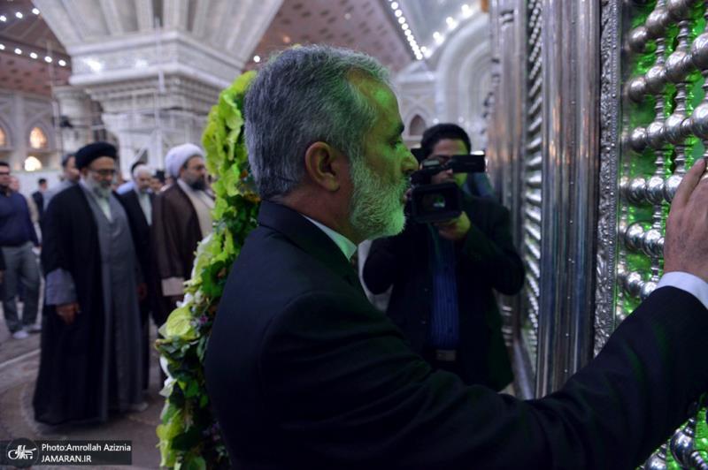 اعضاء مجلس تنسیق الاعلام الاسلامي یجددون العهد مع الامام الخمیني