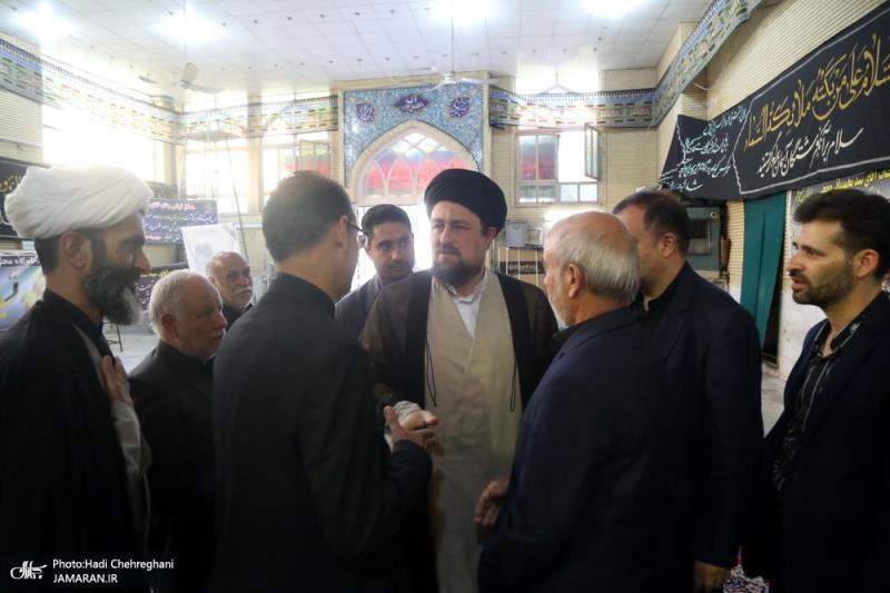 مراسم تكريم آيةالله السيد سجاد حججي بحضور السيد حسن الخميني