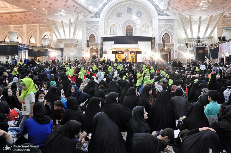 مراسم ذکرى استشهاد السیدة رقیه سلام الله علیها في مرقد الامام الخمیني قدس سره الشریف