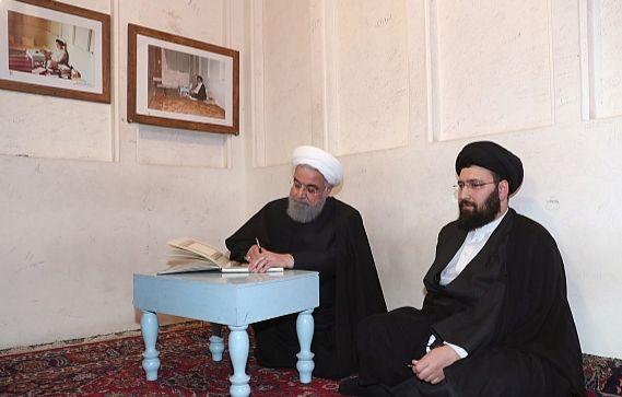 الرئيس روحاني يزور منزل الامام الخميني (رض) في النجف الاشرف