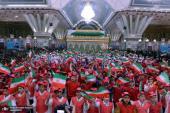 إقامة مراسم الذكرى الاربعين لعودة الامام الخميني في مرقده الطاهر