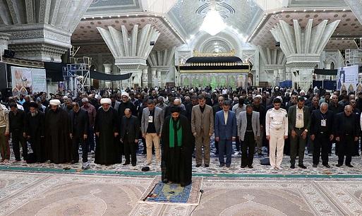 اصحاب المواكب العراقية يزورون مرقد الامام الخميني(رض)