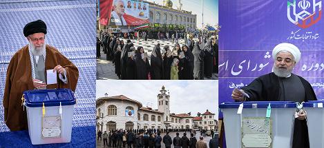 إقبال شعبي كبير على الإنتخابات البرلمانية الإيرانية