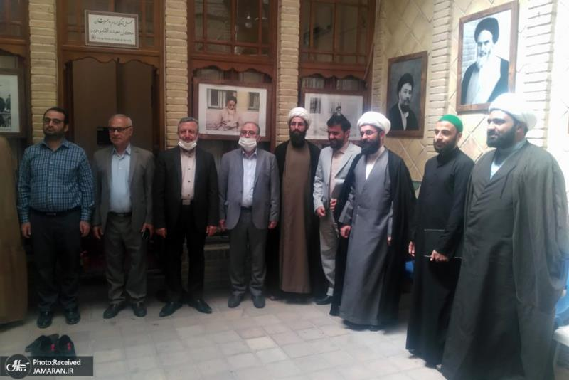 زيارة اعضاء قنصلية الجمهورية الاسلامية الايرانية، لبيت الامام التاريخي، في النجف الاشرف