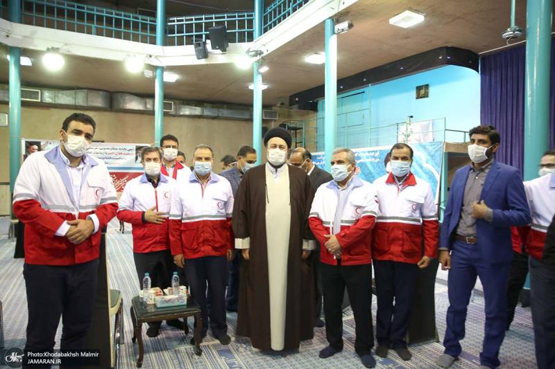 لقاء مدراء و موظفي جمعية الهلال الاحمر مع السيد حسن الخميني