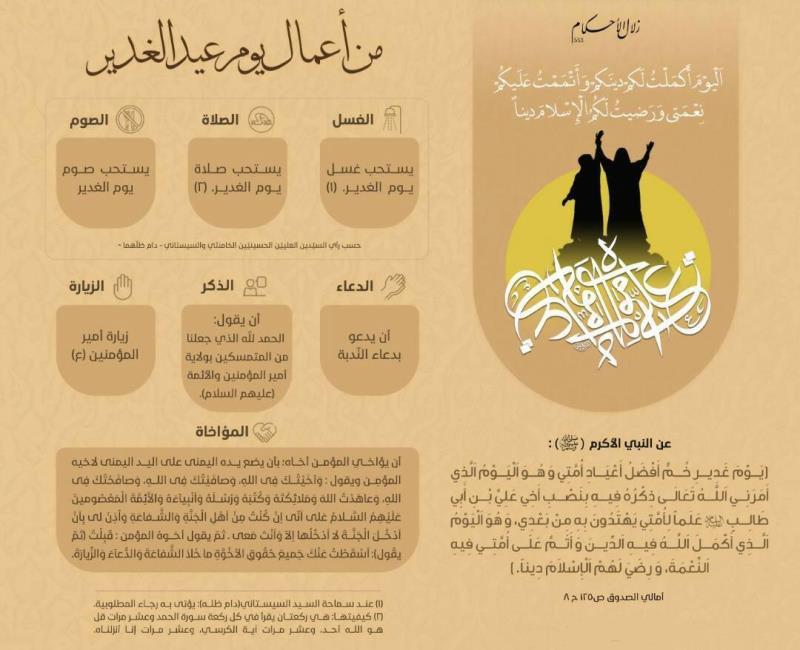 من اعمال یوم عید الغدیر