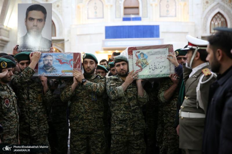 اقامة مراسم الوداع مع جثامين شهداء المقاومة في مرقد الامام الخميني(قدس سره)
