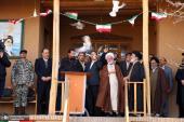مراسم قرع جرس الثورة في منزل الامام الخميني ( قدس سره) التاريخي في خمين
