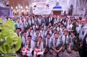 مراسم نثر العطور في حرم الامام الخميني (قدس سره) من قبل التعبويين الكاشانيين