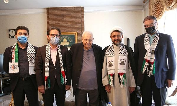 لقاء رئيس مؤسسة تنظيم ونشر تراث الإمام الخميني بالوكالة، مع سفير فلسطين