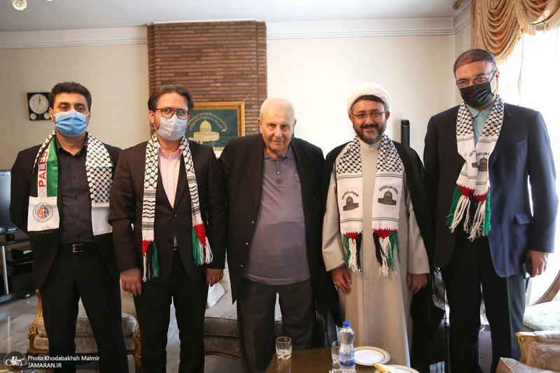 لقاء رئيس مؤسسة تنظيم ونشر تراث الامام الخميني (قدس سره) بالوكالة، مع السفير الفلسطيني في طهران
