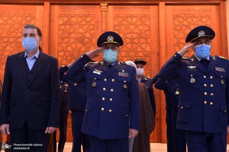 تجديد ميثاق قادة القوة الجوية في الجيش الايراني مع الإمام الخميني (قدس سره)