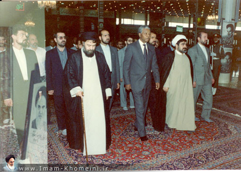 South African leaders visiting Imam`s shrine