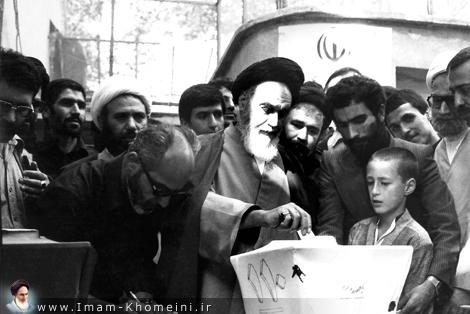 Imam casting his vote