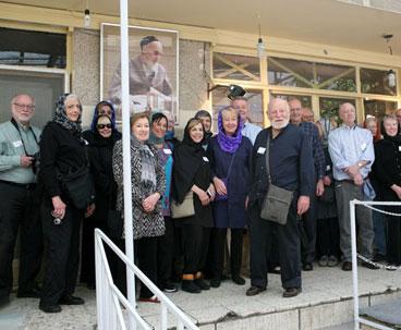 American Tourists Visit Historic Imam Khomeini Residence