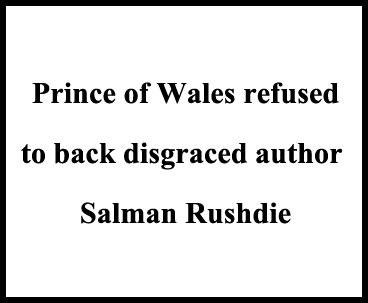 British Prince Respects Imam Khomeini Decree Against Anti-Muslim Author