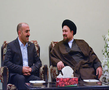 Head of Turkish National Library meets Hassan Khomeini