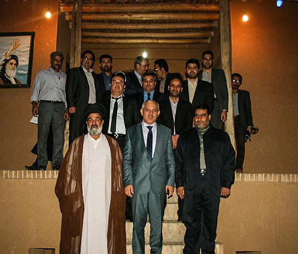 Tajik deputy minster of labour visiting Imam forefather`s house