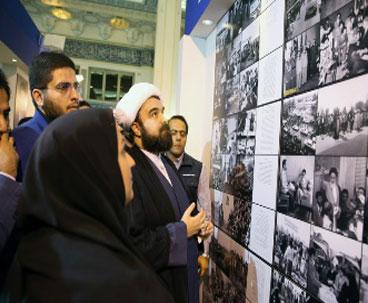 Imam Khomeini's grandson visits media exhibition