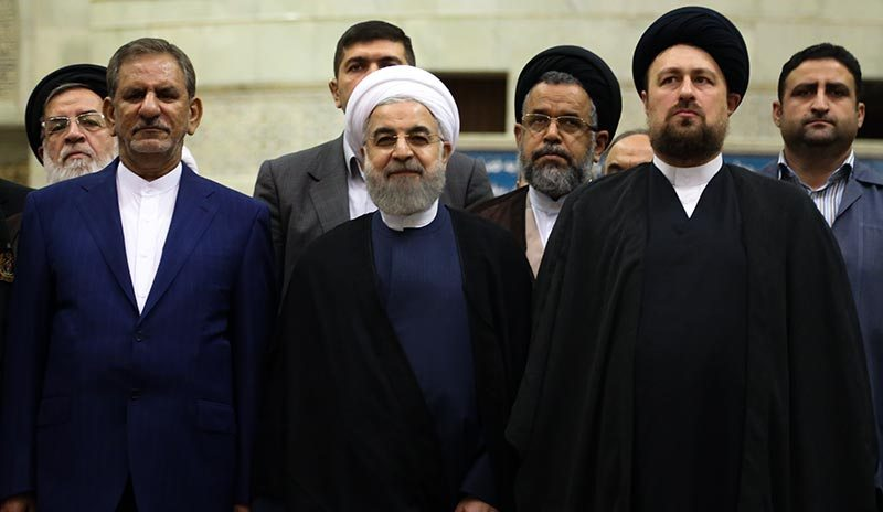 Iranian President along with high-ranking state officials renewed oath of allegiance with the founder of Islamic Republic