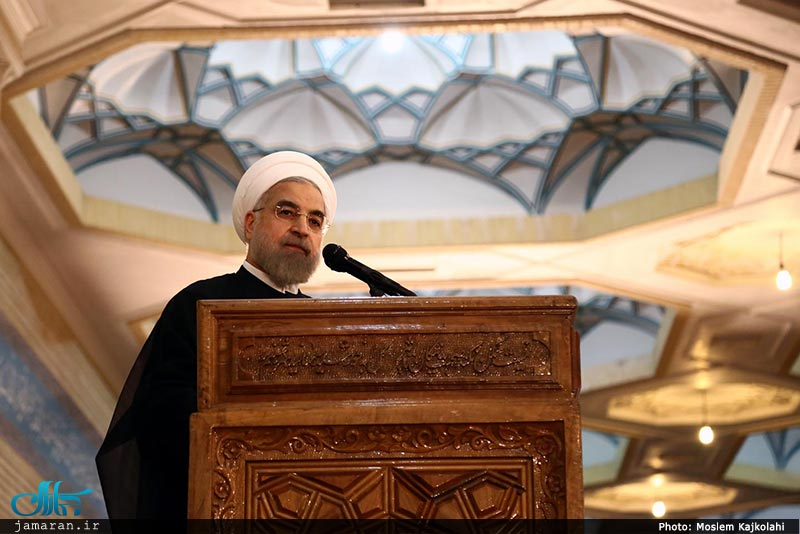 President Rouhani in a ceremony held at Imam Khomeini's Holy Shrine