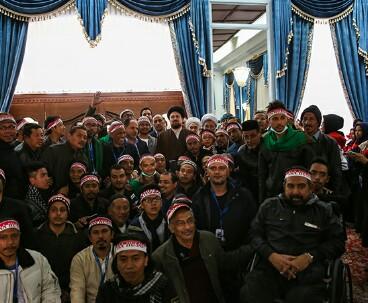 Indonesian pilgrims meet Ayatollah Hassan Khomeini