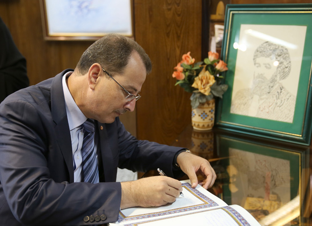 The Tunisia`s Minister visits Imam Khomeini`s house in Jamran