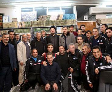 Footballers meet Seyyed Hassan Khomeini
