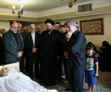 Hassan Khomeini condoles passing away of Ayatollah Khazali