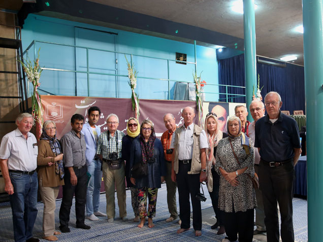 A group of German and Austrian tourists pay a visit to Imam Khomeini`s house in Jamaran