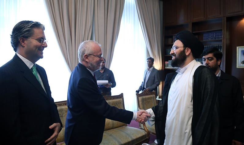 Imam`s anniversary guests attending a summit in Foreign Ministry