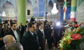 The Presiden of Venezuela, Nicolás Maduro, visit the Holy Shrine of Imam Khomeini