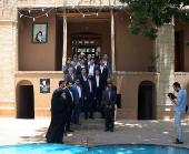A group of Tourists pay a visit to Imam`s Historical House in Khomein