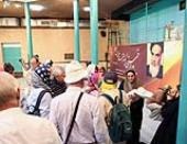 Foreigner tourists pay a visit to Imam Khomeini`s historic house in Jamaran